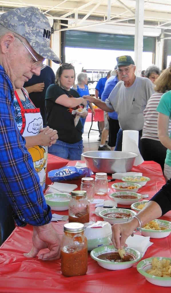 Tomato Fest XI   salsa table   Aug 8 2015   mmv